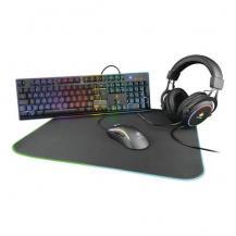 Deltaco GamingDeltaco Deltaco 4-in-1 Kit, headset, tangentbord, mus, musmatta, RGB