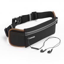 UGrönUGreen Ultimate reflex löpar bälte med hörlur utag Svart