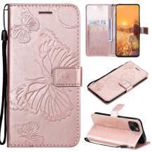 OEMFjärilar Plånboksfodral iPhone 13 Mini - Rose Gold