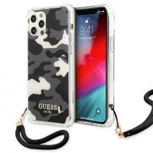 GuessGuess Skal iPhone 12 / 12 Pro Camo Collection - Svart