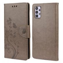 A-One BrandButterfly Plånboksfodral Samsung Galaxy A32 5G - Grå