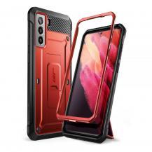 SupCaseSupcase - Unicorn Beetle Pro Mobilskal Galaxy S21 - Metallic Röd