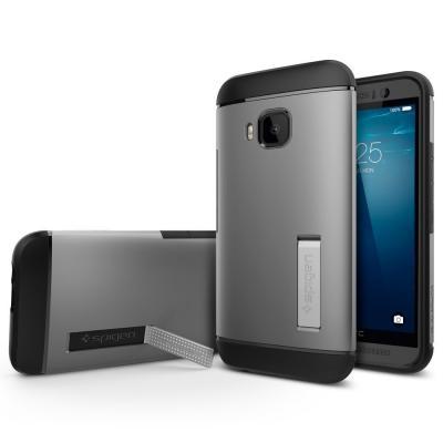 SPIGEN SlimArmor Skal till HTC One M9 - Gunmetal