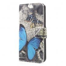 A-One BrandPlånboksfodral till Sony Xperia XZ2 Compact - Blue Butterfly