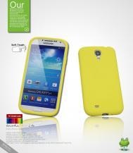 SeepooSeepoo Silikonskal till Samsung Galaxy S4 i9500 (Gul) + Skärmskydd