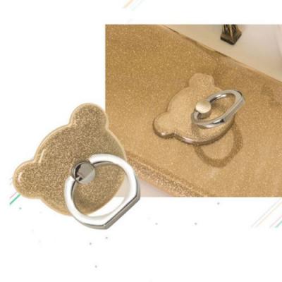 NalleBjörn Glitter Ringhållare till Mobiltelefon - Gold