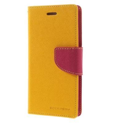 Mercury Fancy Diary Plånboksfodral till Google Nexus 6 - Gul
