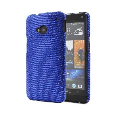 Glitterskal till HTC One (M7) (Mörk Blå)