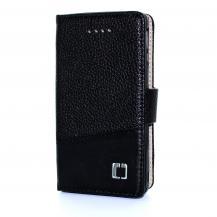 CoveredGearCoveredGear Dual Embossed Plånboksfodral till Sony Xperia V - Svart
