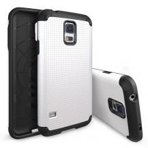 RearthRingke Dotted Armor Skal till Samsung Galaxy S5 (Vit) + Skärmskydd