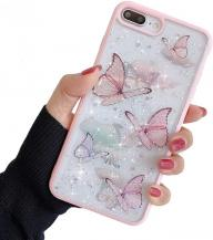 A-One BrandBling Star Butterfly Skal till iPhone 7/8/SE 2020 - Rosa