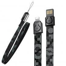 BASEUSBaseus Gold Collar Kabel USB lightning 2.4A 85cm Pop Svart
