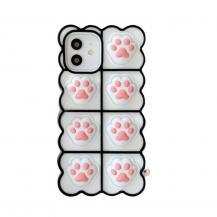 Fidget ToysPuppy Paws Pop it Fidget Skal till iPhone 7/8/SE (2020) - Vit