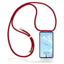 CoveredGear-NecklaceCoveredGear Necklace Case Huawei P30 - Maroon Cord