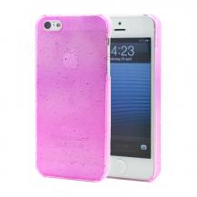 OEMBaksidesskal till Apple iPhone 5/5S/SE Regndroppar (Rosa)