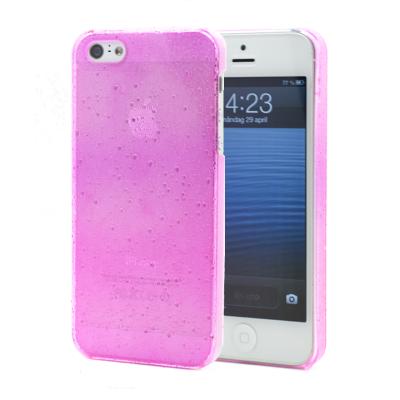 Baksidesskal till Apple iPhone 5/5S/SE Regndroppar (Rosa)