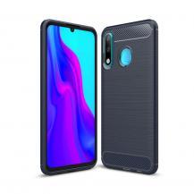 OEMCarbon Brushed Mobilskal till Huawei P30 Lite - Blå