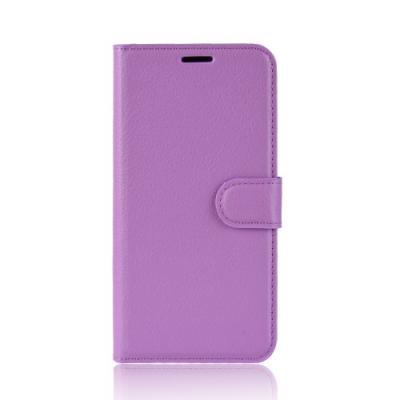 Litchi Plånboksfodral till Samsung Galaxy A6 (2018) - Lila