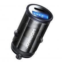 JoyroomJoyroom mini dual port USB Type C/USB 20 W 3 A car charger Grå