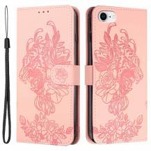 A-One BrandTiger Flower Plånboksfodral till iPhone 6/6S/7/8/SE - Rosa