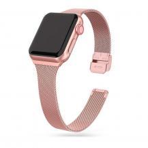 Tech-ProtectThin Milanese Band Apple Watch 4 / 5 / 6 / 7 / Se (38 / 40 / 41 mm) - Rosa Guld