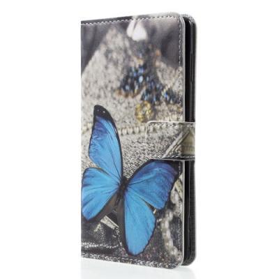Plånboksfodral till Sony Xperia XZ2 - Blue Butterfly