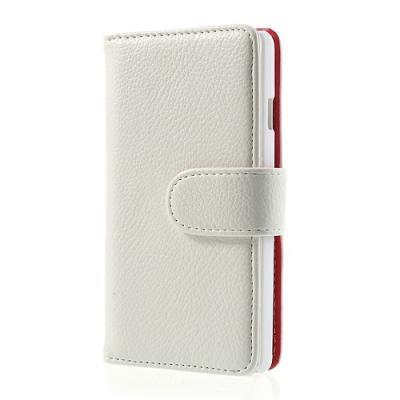 Embossed Plånboksfodral till LG Optimus L9 II (Vit)