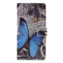 OEMPlånboksfodral till LG G5 - Blå Fjäril