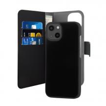 PuroPuro EcoLeather Detachable Plånboksfodral iPhone 13 - Svart