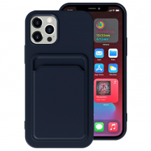OEMiPhone 13 Pro Max Skal med Kortfack - Mörk Blå