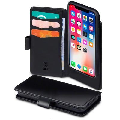 SiGN Plånboksfodral 2-in-1 för iPhone X/XS - Svart