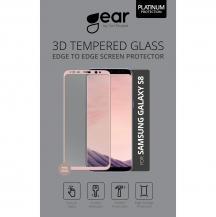 GEARGEAR Härdat Glas 3D Full Cover Samsung S8 - Rosegold