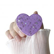A-One BrandHeart Glitter Mobilhållare / Mobilgrepp - Lila