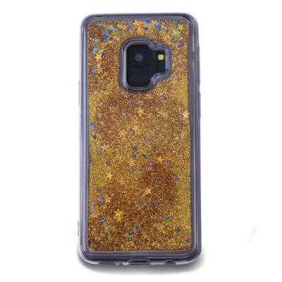 Glitter Skal till Samsung Galaxy S9 - Guld