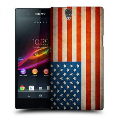 Skal till Sony Xperia Z - Amerikanska Flaggan