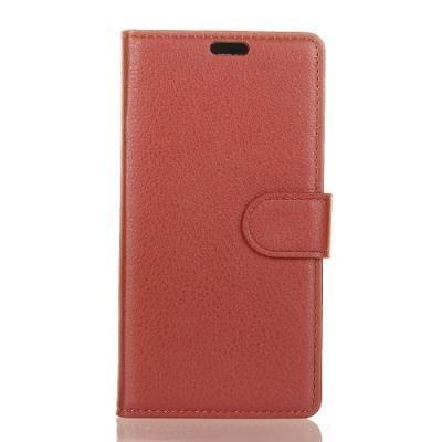Litchi Plånboksfodral Till Motorola Moto G6 Plus - Brun