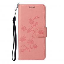 A-One BrandImprint Butterfly Plånboksfodral till Galaxy S21 Plus - Rosa