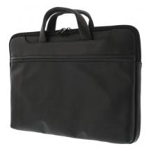 """DeltacoNotebook Konstläder väska upp till 15.6"""" - Svart"""