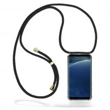 CoveredGear-NecklaceCoveredGear Necklace Case Samsung Galaxy S8 - Black Cord