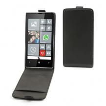 MuvitMuvit Slim Flip väska till Nokia Lumia 520 (Svart) + Displayskydd