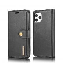 DG.MING Detachable Äkta Läder Plånboksfodral iPhone 12 Pro Max - Svart