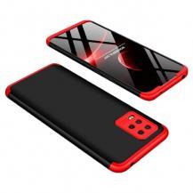 GKKGKK 360 Protection Fram bak Xiaomi Mi Note 10 Lite Svart-Röd