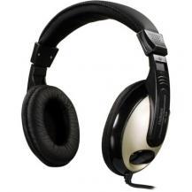 DeltacoDELTACO hörlur med volymkontroll 2,5m kabel, svart