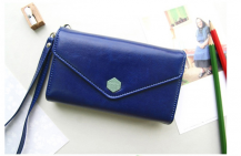 OEMPoste Smart Fold plånbok-mobilväska - Blå