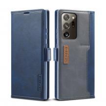LC.imeekeLC.IMEEKE Leather Card Holder Fodral Till Galaxy Note 20 Ultra - Blå