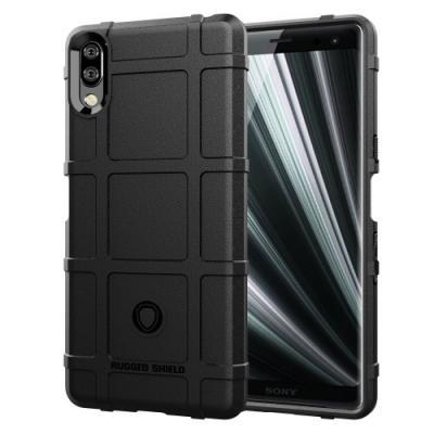 Rugged Square Grid Skal till Sony Xperia L3 - Svart