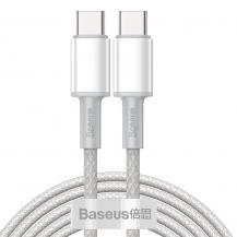 BASEUSBaseus USB Type C - USB Type C Kabel 100 W 5 A 2 m Vit