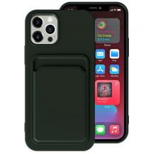 OEMiPhone 13 Pro Max Skal med Kortfack - Mörk Grön