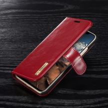 DG.MINGDG.MING Detachable Plånboksfodral till iPhone XS / X - Röd
