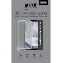 GEARGEAR Härdat Glas 3D Full Cover Samsung S8 - Silver
